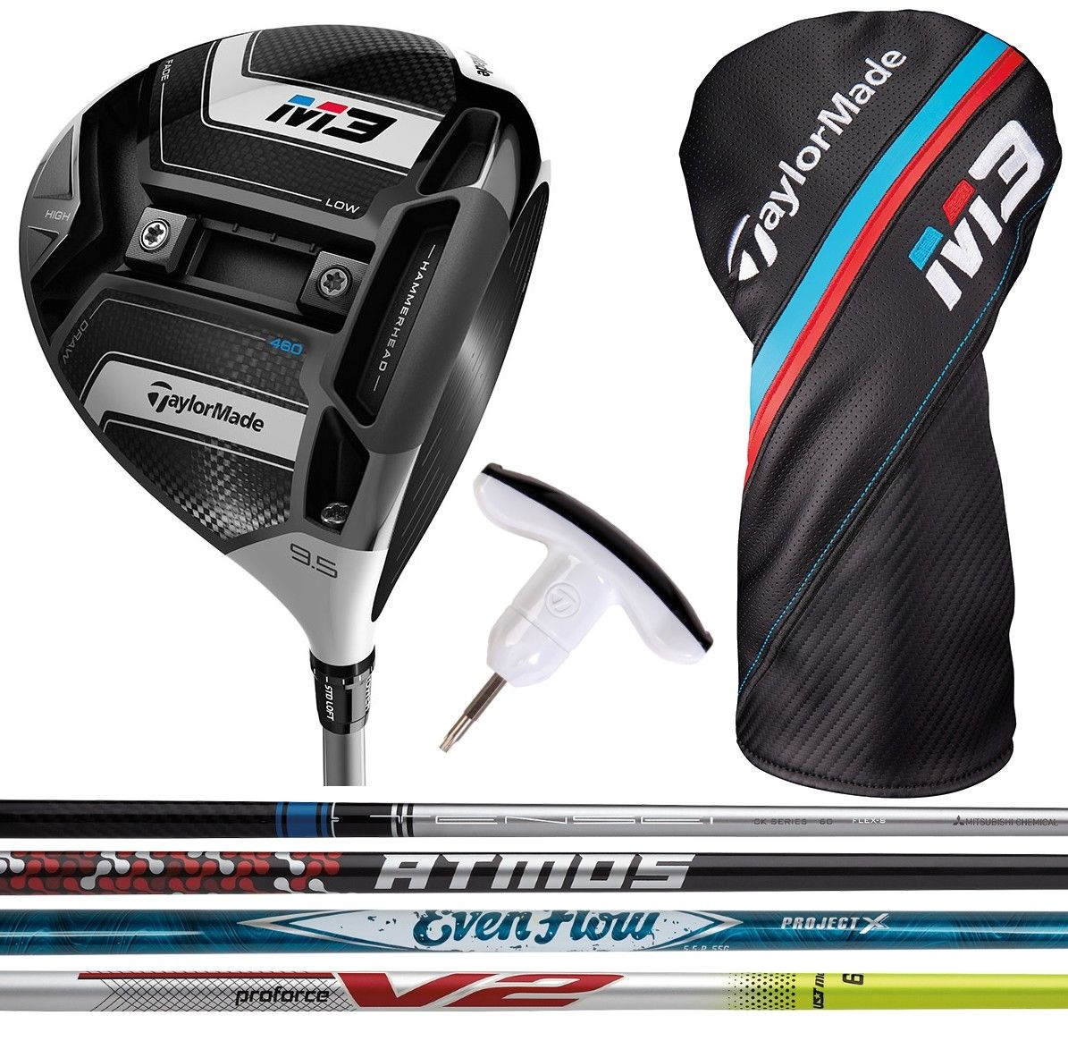 Taylormade M3 Driver Custom Shafts